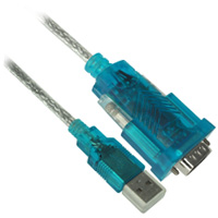 6ft USB Male to RS232 Serial Male Converter Cable with DB25 Adapter (Blue)