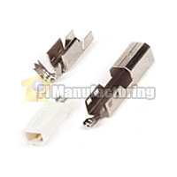 USB B Type Male Solder Type Connector 1u Gold