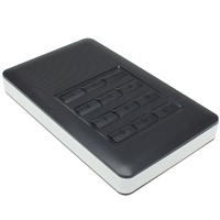 Keypad Encrypted SATA 2.5 inch to USB 3.0 Hard Drive Enclosure
