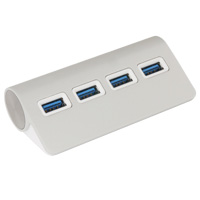 4 Port USB 3.0 Hub, Aluminium Alloy with USB 3.1 Type-C and USB 3.0 A Cable