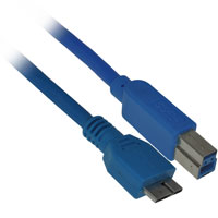 6ft USB 3.0 B Male to Micro-USB A Male Cable - Blue