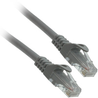 6 inch 24AWG Molded UTP Cat6 Network Cable - Grey