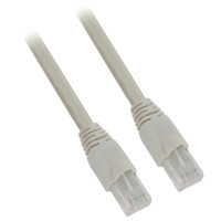 15ft 24AWG Molded Cat6a Network Cable - Gray