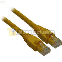 15ft 24AWG Molded Cat6a Network Cable - Yellow
