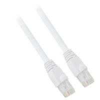25ft 24AWG Molded Cat6a Network Cable - White
