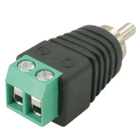 RCA Plug to 2-Pin Terminal Adapter