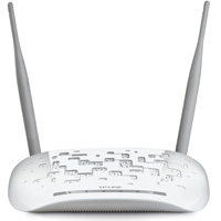 TP-LINK 300Mbps Wireless N Access Point, 2T2R Detachable Antennas, 2.4GHz, 802.11n/g/b, AP/Client/Bridge/Repeater