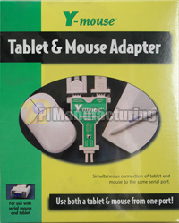Dual Serial Adapter for Mouse and Tablets, DB9 Y-adapter