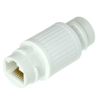 Waterproof 8P8C Female to Female Coupler, Plastic - White