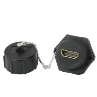 Industrial Waterproof HDMI Coupler with Dust Cap