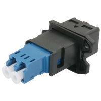 Waterproof LC Single-mode 9/125 Duplex Coupler Female to Female