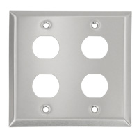 4 Port Dual Gang Stainless Wall Plate